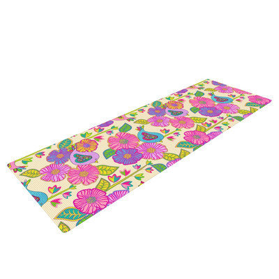 Kess Inhouse My Birds and My Flowers by Julia Grifol Yoga Mat
