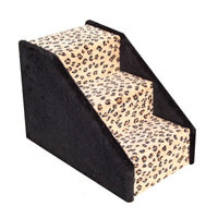 Animal Stuff Bear's Stairs Three-Step Carpeted Pet Stairs Color: Leopard