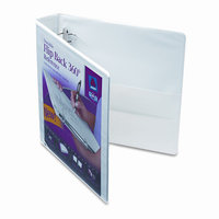 Avery Durable White Flip Back Round Ring View Binder