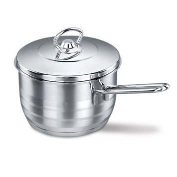 YBMHome A1892 Stainless Steel Capsulated Saucepan High Polish Finish - 2 Quart