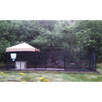 K9 Kennel Ultimate Welded Wire Steel Modular Yard Kennel Color: Beige, Size: 72