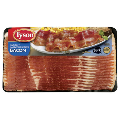 Tyson Hardwood Smoked Bacon 16 Oz Package