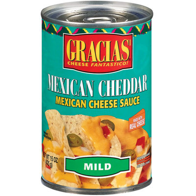Gracias Mexican Cheddar Mild Cheese Sauce 15 Oz Pull-Top Can