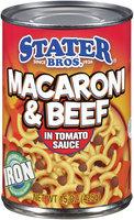 Stater Bros.® Macaroni & Beef in Tomato Sauce 15 oz