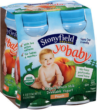 Stonyfield Organic™ YoBaby® Peach Drinkable Yogurt 4-6 oz. Bottles