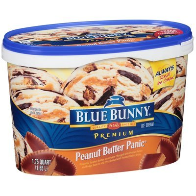 Blue Bunny Frozen Blue Bunny Premium Peanut Butter Panic Ice Cream, 1.75 qt