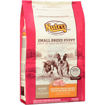 Nutro® Small Breed Puppy Chicken, Whole Brown Rice & Oatmeal Recipe Dog Food 8 lb. Bag