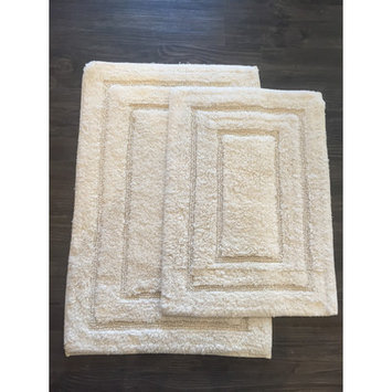 Am Home Textiles Race Track 2 Piece Bath Mat Set, Ivory