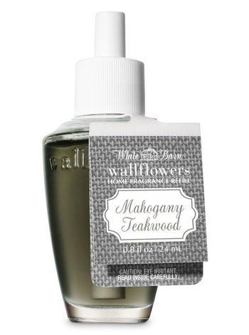 Bath And Body Works White Barn Mahogany Teakwood Wallflowers Fragrance Refill