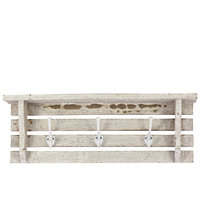 Urban Trends Wooden Wall Shelf-White
