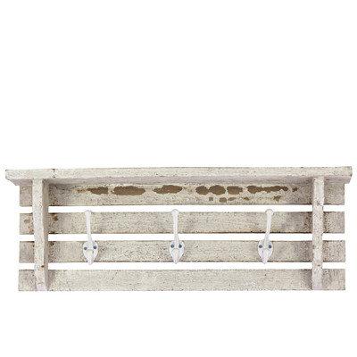 Urban Trends Wooden Wall Shelf-White