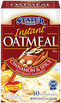 Stater Bros. Cinnamon & Spice Flavored - 10 Pack Instant Oatmeal 10 Pk Box