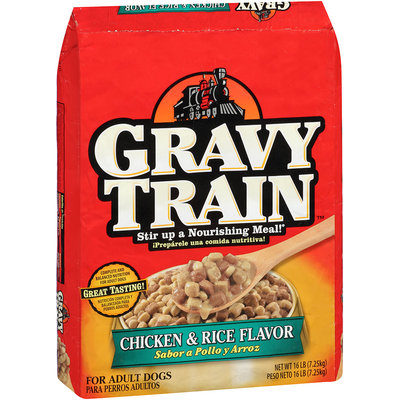 Gravy Train Chicken & Rice Flavor Dry Dog Food, 16-Pound