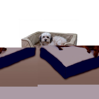 O'donnell Industries Odonnell Industries 21492 Luxury X-Large Square Dog Bed - Butter-Black