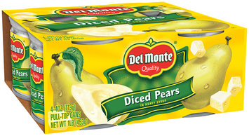 Del Monte® Diced Pears in Heavy Syrup