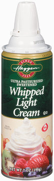 Haggen Light Ultra Pasteurized Sweetened Whipped Cream