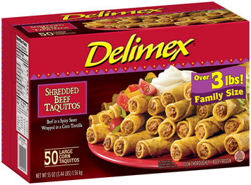 Delimex® Shredded Beef Taquitos 50 ct Box