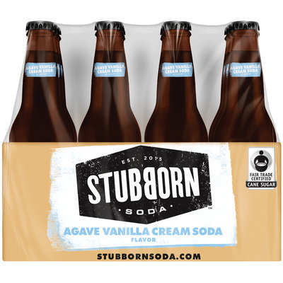 Stubborn Soda™ Agave Vanilla Cream Soda 12-12 fl. oz. Glass Bottles