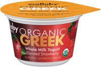 Wallaby® Organic Greek Blended Strawberry Whole Milk Yogurt 5.3 oz. Cup