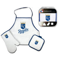 Mcarthur Towel Kansas City Royals 3-Piece BBQ Tailgate Set White