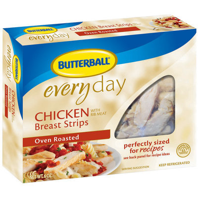 Butterball Oven Roasted Chicken Breast Strips 6 Oz Box