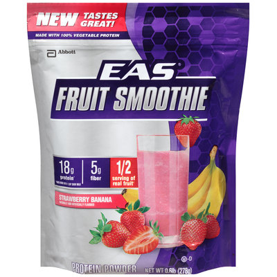 Abbott EAS® Strawberry Banana Fruit Smoothie Protein Powder 0.6 lb. Bag