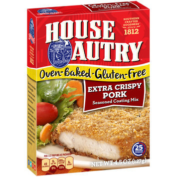 House-Autry® Oven-Baked Gluten-Free Extra Crispy Pork Seasoned Coating Mix 4.5 oz. Box