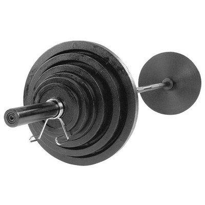 Body-Solid OSB400S 400 lbs Cast Olympic Set Black Bar