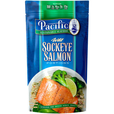 Pacific Sustainable Seafood™ Wild Sockeye Salmon Portions 12 oz. Pouch