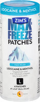 Zim's® Max-Freeze Pain Relief Patches L 4 ct Container