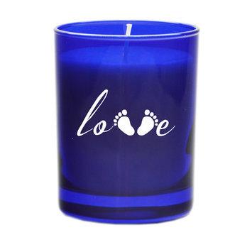 Carved Solutions Gem Love Footprint Votive Candle Color: Sapphire