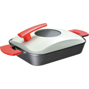 Uchicook Metal Cover Steam Grill Color: Red