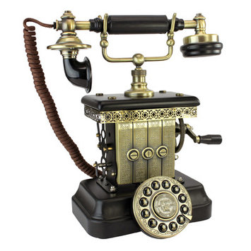 Design Toscano 1923 Reproduction Victorian Magneto Telephone