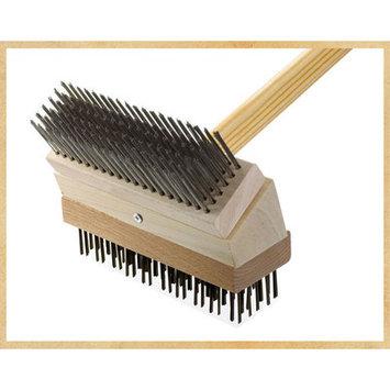 Texas Brush Junior Grill Brush Brush: Stainless/Black Steel