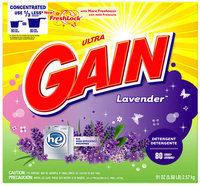 Gain with FreshLock HE Lavender Powder Detergent 91 oz. Carton