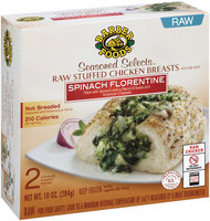 Barber Foods® Seasoned Selects™ Spinach Florentine Raw Stuffed Chicken Breasts 2 ct Box