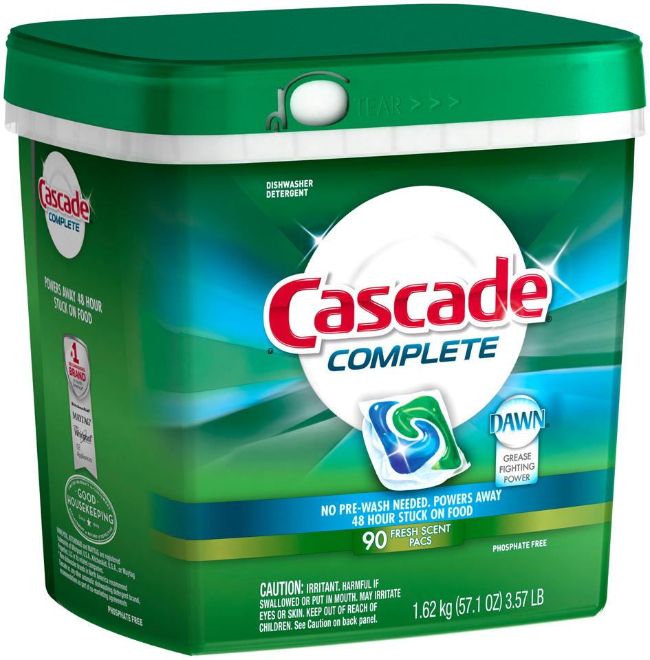 Cascade Complete™ ActionPacs™ Dishwasher Detergent Fresh Scent 90 Ct