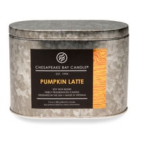 Chesapeake Bay Candles Hertitage Pumpkin Latte Double Wick Tin Candle