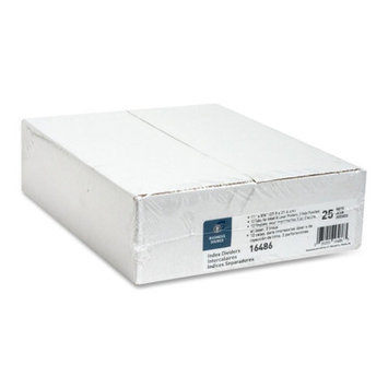 Business Source BSN16486 Index Dividers- 3HP- 12-Tab- White