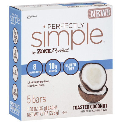 Abbott Perfectly Simple™ by Zone Perfect® Toasted Coconut Nutrition Bar 5 ct. 1.58 oz.