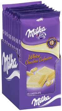 Milka White Chocolate Confection Bar 10-3.52 oz. Bars
