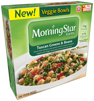 MorningStar Farms® Tuscan Greens & Beans Veggie Bowls 8.5 oz. Box
