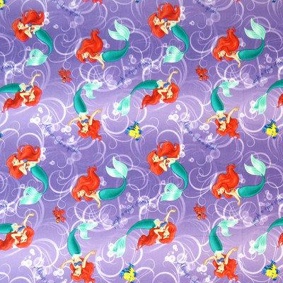 Stwd Little Mermaid Fitted Bassinet Sheet