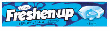 Fuzzy Peppermint 7 Pieces Gum   Wrapper