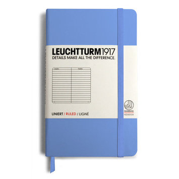 Leuchtturm Assorted Lined Pocket Book Color: Red / Yellow