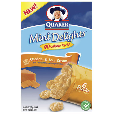 Mini Delights Cheddar & Sour Cream .70 Oz Packs Multigrain Cakes 6 Ct Package