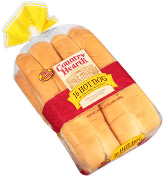 Country Hearth® Enriched Sliced Hot Dog Buns 16 ct Bag