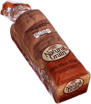 Natural Grain® 100% Whole Wheat Bread 20 oz. Bag