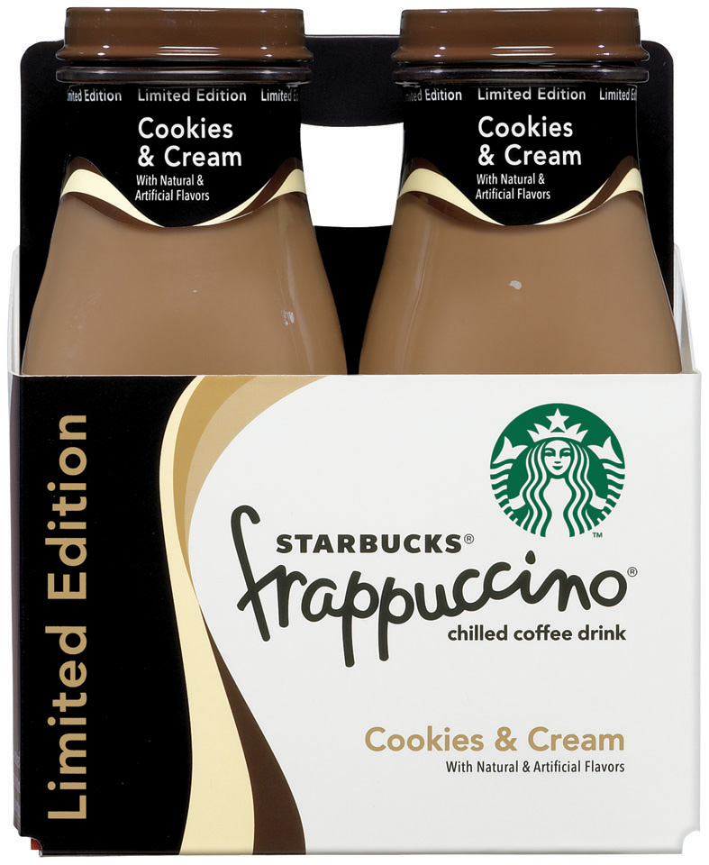 Starbucks® Cookies & Cream Frappuccino® Coffee Drink 4 Pack 9.5 fl. oz. Glass Bottles