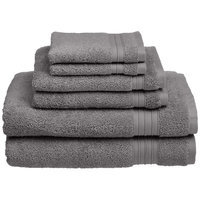 Chambray & Co. Cotton 6 Piece Towel Set Color: Pewter